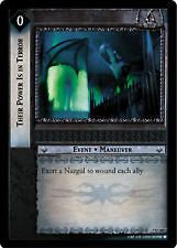Lord of the Rings CCG Return of King 7U207 Their Power is in Terror X2 LOTR TCG