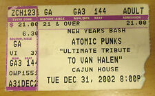 2002 THE ATOMIC PUNKS VAN HALEN TRIBUTE BAND CONCERT TICKET STUB SCOTTSDALE AZ