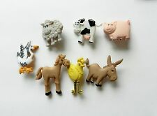FUNNY FARM ANIMALS ~ SET OF DRESS IT UP NOVELTY CRAFT BUTTONS, NEW