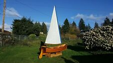 12 foot Wooden Sailing Boat - Fully Equipped