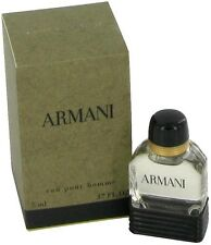 Armani Cologne By Giorgio Armani Men Perfume Mini Travel EDT 0.17 fl oz 5 ml New