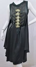 Green JPG JEAN PAUL GAULTIER Femme Italy Military Embroidered Silk Wrap Dress M