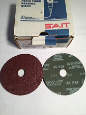 "SAIT/UNITED ABRASIVES, PART #50020, 5"" X 7/8"" 24 GRIT ALUMINUM OXIDE FIBER DISC"
