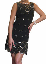 Ladies Dress Womens Gatsby 1920s Flapper Party Evening Size 8 10 12 14 16 18