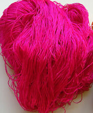 Luxury Laceweight Silk Yarn, 270g. Cerise. For Weaving/Textiles