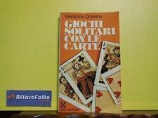 ART 7.026 LIBRO GIOCHI SOLITARI CON LE CARTE DI GIAMPAOLO DOSSENA 1979