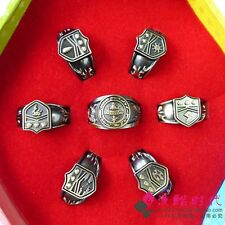 7pcs Hitman Reborn Vongola cosplay rings set with box  AE31