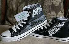 ASKING ALEXANDRIA STAND UP AND SCREAM CUSTOM HAND PAINTED HIGH TOPS