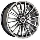 20x8.5 COMMODORE VR VS VT VX VU VY VZ VE BLACK METALLIC CHROME RIMS & TYRE COMBO