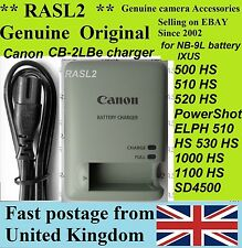 Genuine Original CANON  Charger,CB-2LBe NB-9L IXUS 500 520 1000 1100 HS