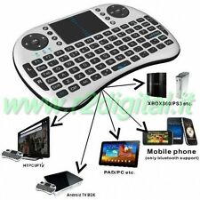 MINI TASTIERA WIRELESS MEDIA CENTER TOUCHPAD PC PS3 XBOX ANDROID TV PLAYER MAC