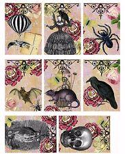 8 Steampunk Hang Tags Ephemera - Scrapbooking, Journaling Cards, Paper Crafts