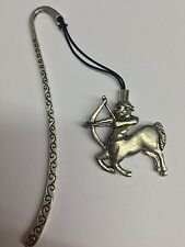 Sagitarius PP-SS05   Pattern bookmark with cord 3D English pewter charm
