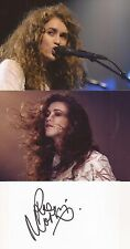 MUSIC* RAE MORRIS SIGNED 3x5 WHITECARD+2 UNSIGNED PHOTOS+COA *UNGUARDED*