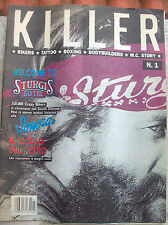 1990 RIVISTA 'KILLER' ANNO 1- NUMERO 1 BIKERS TATTOO BOXING BODYBUILDERS.....