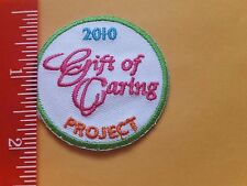 Girl Scout 2010 Gift of Caring Cookies Patch New Iron-on