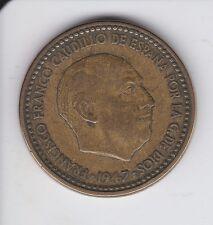 MONEDA DE 1 PESETA DE FRANCO DEL AÑO 1947 X 56 MADRID EN CALIDAD MBC