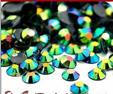 400pcs 4m Jelly drill beads flat back Scrapbooking for crafts art Black Green 0