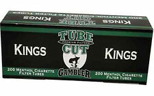 Gambler Tube Cut Menthol King Filter Cigarette Tubes -Lot Of 5 Boxes1,000 Tubes