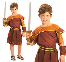 Childrens Roman Soldier Fancy Dress Costume Gladiator Childs Boys Outfit M