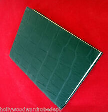 Alligator Leather embossed ITALY journal diary blank notebook book dream black