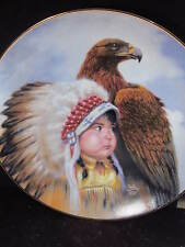1989 Perillo Proud Young Spirits PROTECTOR OF THE PLAIN Child Eagle LtdEd Plate