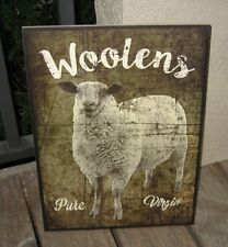 Lamb Sheep Wall Picture SIGN*Primitive French Country Farmhouse Farm Barn Decor