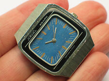 Retro soviet RAKETA QUARTZ watch Blue Guilloche TV-Dial USSR / CCCP VGC+