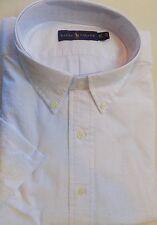 NWT Ralph Lauren WHITE, or BLUE Seersucker Button Short Sleeve Shirt Big & Tall