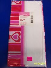 Hearts in a Row Red Striped Valentine's Day Party Decoration Plastic Tablecover