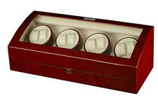 Diplomat Estate Cherry Wood Eight 8 Watch Winder Cherrywood Storage Box Case