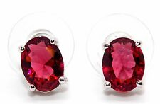 Sterling Silver Ruby 3.45ct Stud Earrings (925)