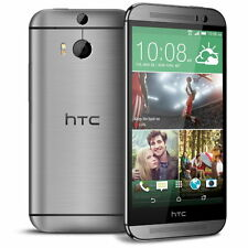 "HTC ONE M8 Phone Android 5"" Full HD 32GB Dual 4MP Camera LTE Unlocked Gray"
