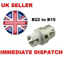 UK BC B22 To B15 Bulb Base Lamp Socket Fitting Extender Converter Adaptor Holder