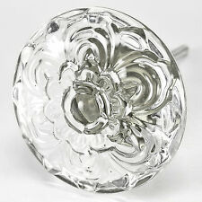 4 Glass Cabinet Knobs Daisy Kitchen Drawer Pulls Funiture Handle Hardware T38CH