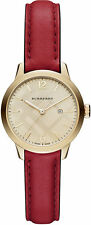 Burberry Women's Swiss Red Leather Strap Watch 32mm BU10102