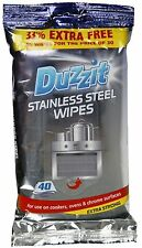 40 Stainless Steel Wipes Cookers Oven Cleaning Kitchen Fridge Freezer Chrome UK
