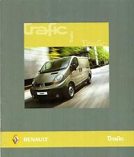 Renault Trafic 2007-08 UK Market Sales Brochure Panel Van Platform Cab Crew Van