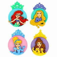 Dress It Up - Disney - THE PRINCESSES Buttons (set of TWO)