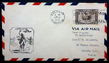 CANADA JAN. 15 1931 CALGARY TO LETHBRIDGE  1ST. FLIGHT COVER TIED BY   #C2 CAT.$