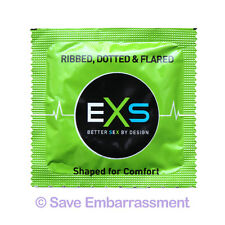 144 EXS RIBBED, DOTTED & FLARED Extreme Condoms - Free Fast UK Post