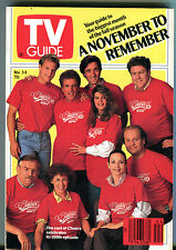 TV Guide Nov. 3-9 1990 Cast of Cheers Celebrates 200th Episode EX 011216jhe2