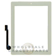 Digitizer Home Button Assembly for Apple iPad 3 White Front Glass Touch Screen