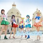Anime Sailor Moon Cosplay Costume Uniform Fancy Party Dress with Gloves NEW