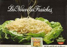 Publicité 1981 (Double Page)  PATES PANZANI Fraiches aux oeufs frais