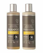 Urtekram Organic Camomile Shampoo & Conditioner 250ml -For Blonde Hair -Vegan
