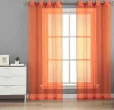 """1 PC GROMMET VOILE SHEER PANEL WINDOW CURTAIN TREATMENT DRAPE IN MANY COLORS 84"""""""