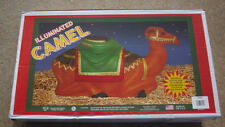 NEW Blow Mold Camel Lighted Christmas Nativity by General Foam Blowmold 28""