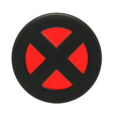 Vintage Superhero X-men Logo Metal Belt Buckle Red & Black Enamel Comics Leather