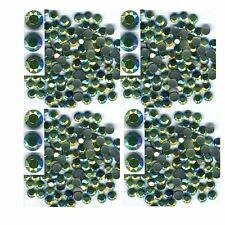RHINESTUDS Faceted Metal  3mm AB ICE SEA  144pc